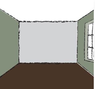 Où mettre la couleur la plus foncée dans une pièce ?